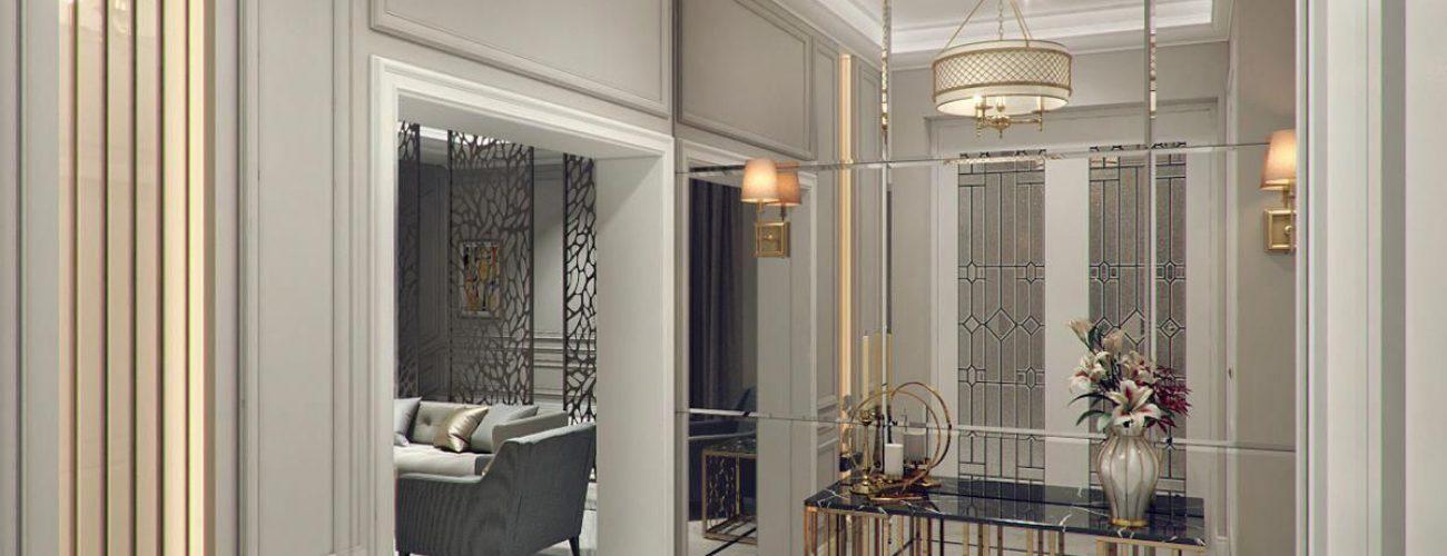 Phong cách trang trí sảnh nhà phụ thuộc vào phong cách chung của ngôi nhà